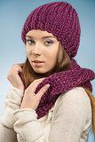 pretty girl in winter portrait