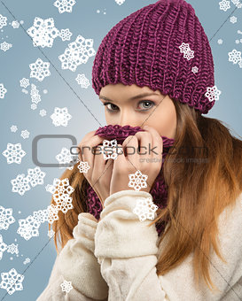 pretty woman with winter style