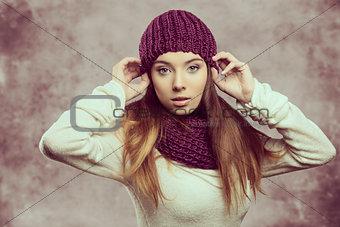 fashion girl in winter season
