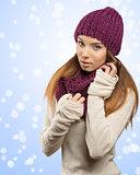 fashion girl in winter dress