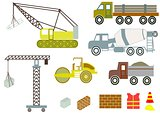 Vector of construction equipment
