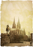 view of Gothic Cathedral in Cologne