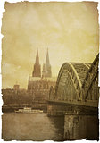 View on Cologne Cathedral and Bridge