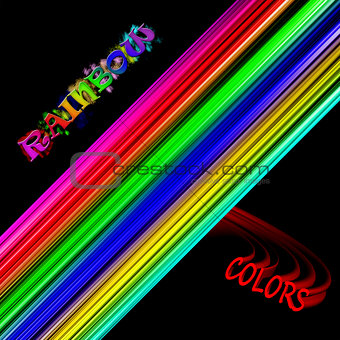 Abstract Background Rainbow Colors