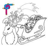 Coloring image reindeer