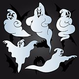 Halloween ghosts collection