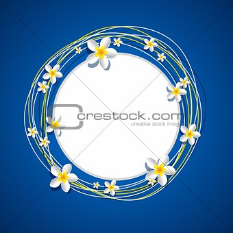 Frangipani Flowers Frame