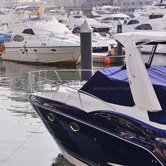 Beautiful modern yachts