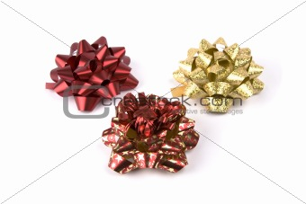 Red and Golden Christmas Bows