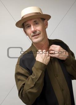 Man in Pork Pie Hat