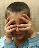 Child hides
