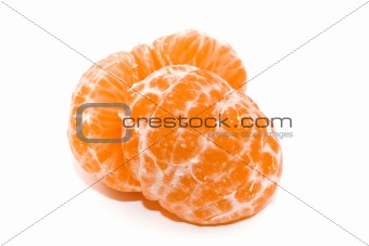 Slice of mandarin fruit