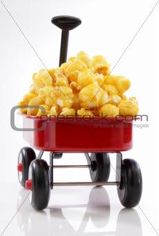 Caramel popcorn wagon