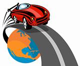 Sports car racing off the globe