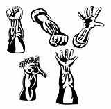 Retro style hands