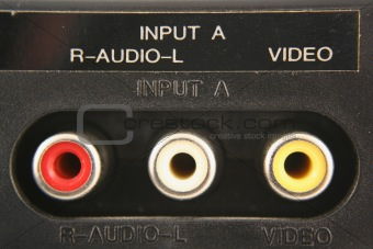 Audio video input jacks