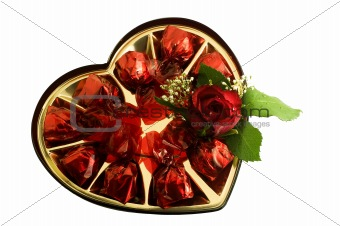 candies with a nice red rose