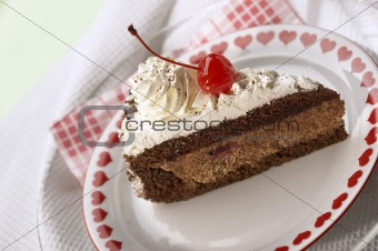 appetizing chocolate cake