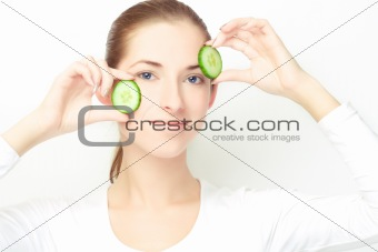 young woman, clear skin concept theme