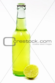 A Bottle of Beer with a Lime