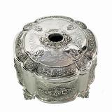 Silver round box