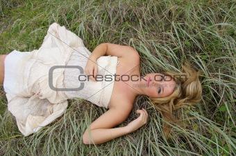 Beautiful Girl in the Grass