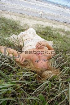 Beautiful Girl in the Grass