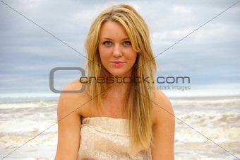 Beautiful Girl at the Beach