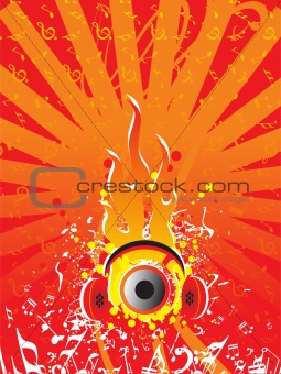 abstract grunge vector flame background