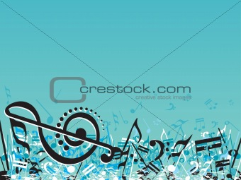 Abstract musical note design elements