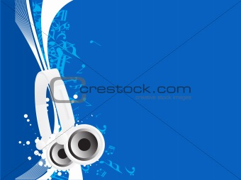 abstract vector musical blue background