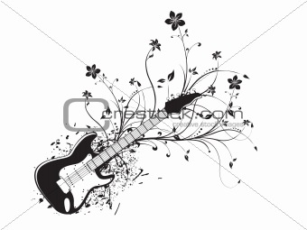 floral grunge musical instrument