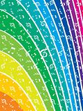 vector music note rainbow design element