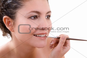 Applying lipgloss