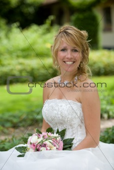 Beautiful happy bride