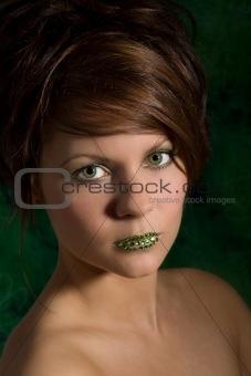 Beautiful green eyed woman