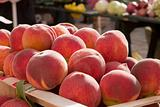 Ripe Peaches At Market
