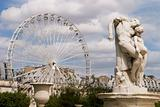 Ferris Wheel With Statue