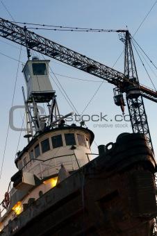 on dock