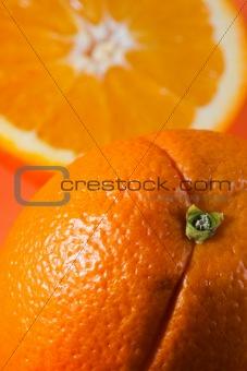 One orange, one half orange