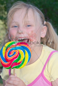sticky lollipop