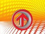 3D arrow on abstract background