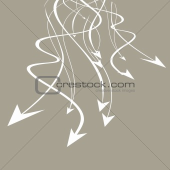 abstract background with flying arrows