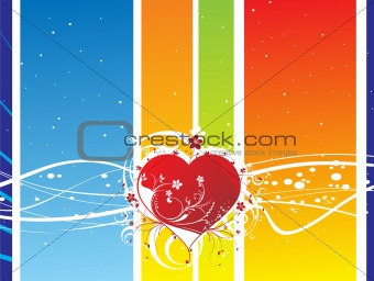 abstract floral heart background