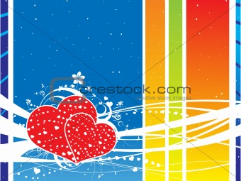 abstract floral valentine's background