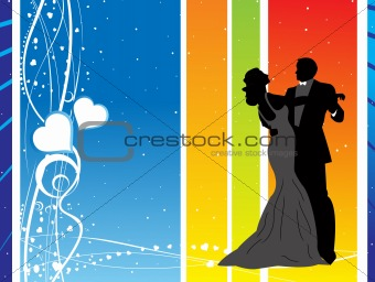abstract valentine's background with beautiful couple