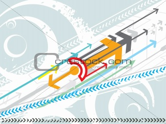 Abstract vector arrows grunge background