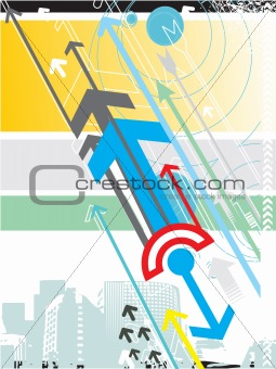 Abstract vector background series with arrow details