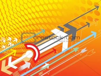 Abstract vector background with arrow detail