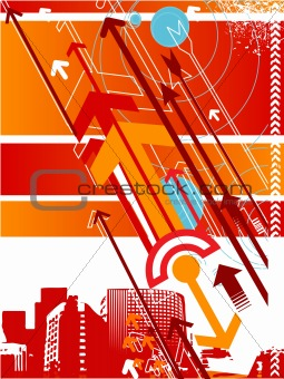 Abstract vector background with arrow details